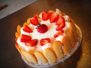 World Baking Day: Strawberry Cream Gateaux