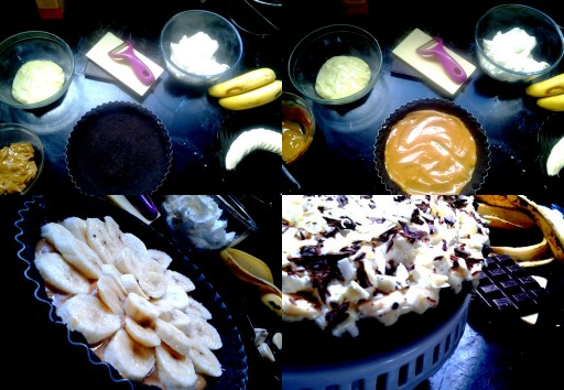 Banoffee Pie collage