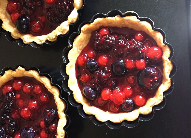 Red Black & Blue Crumble Tarts- Oh So Sweet Baker