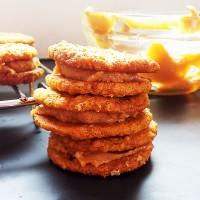 Peanut Butter + Jelly Oatmeal Sandwich Cookies